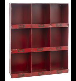 Casiers muraux rouges