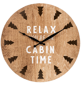 Horloge - Relax you're on cabin time