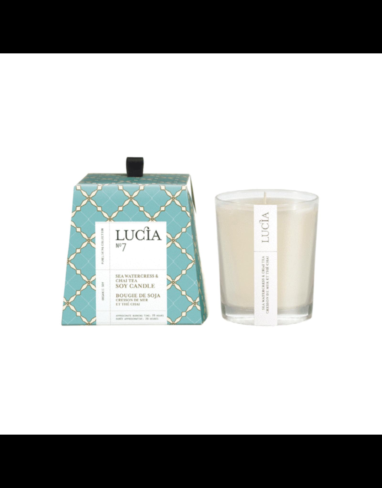Lucia  # 7: Bougie  - Cresson de mer et thé chai 50h