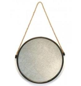 Miroir rond avec corde