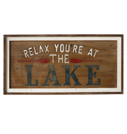 """Cadre """"Relax you're at the lake"""""""
