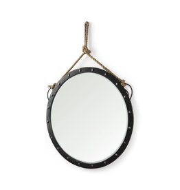 Miroir rond en métal Pendula
