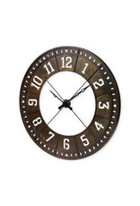 """Horloge industrielle en métal 56.5""""D"""