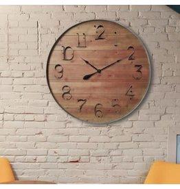 Horloge Farmhouse en bois et métal