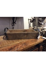 Cabaret en bois rustique et poignées de métal