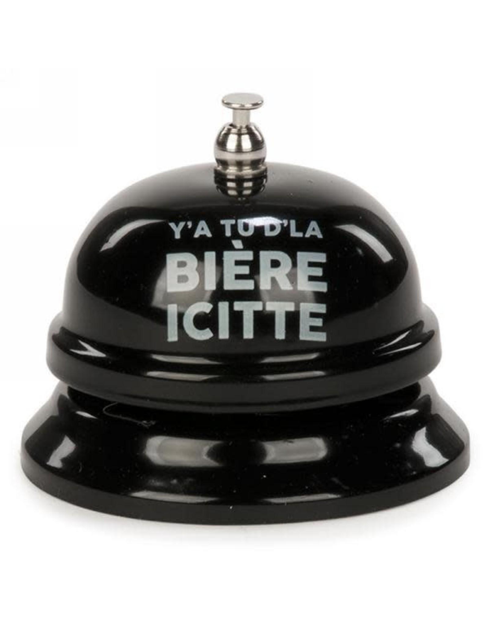 Sonnette en métal - Y'a tu d'là bière icitte