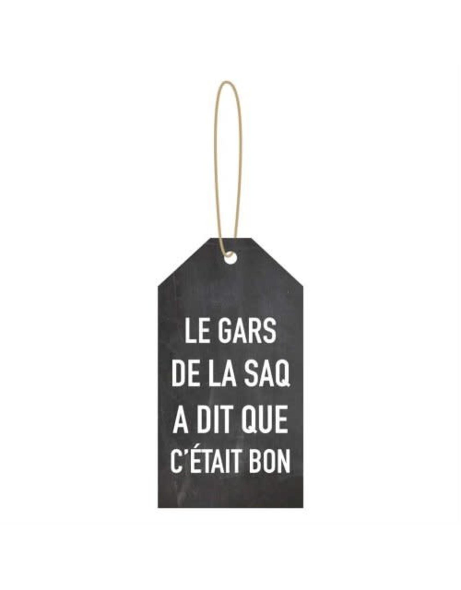 Étiquette à vin- Le gars de la SAQ...