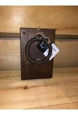 Heurtoir rustique en bois brun