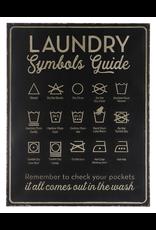Affiche - Laundry symboles