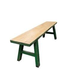 Banc en bois Midwich 2 tons naturel vert