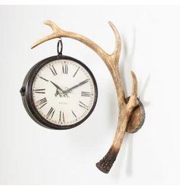 Horloge mural bois de cerf