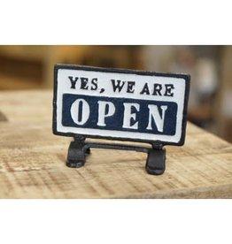 Plaque Open/Close en fonte