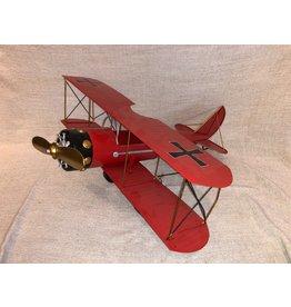 Avion en métal Vintage rouge