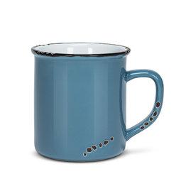 Tasse bleue  en grès (14 oz)