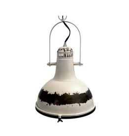 Luminaire en métal blanc antique