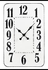Horloge rectangulaire blanche et noire