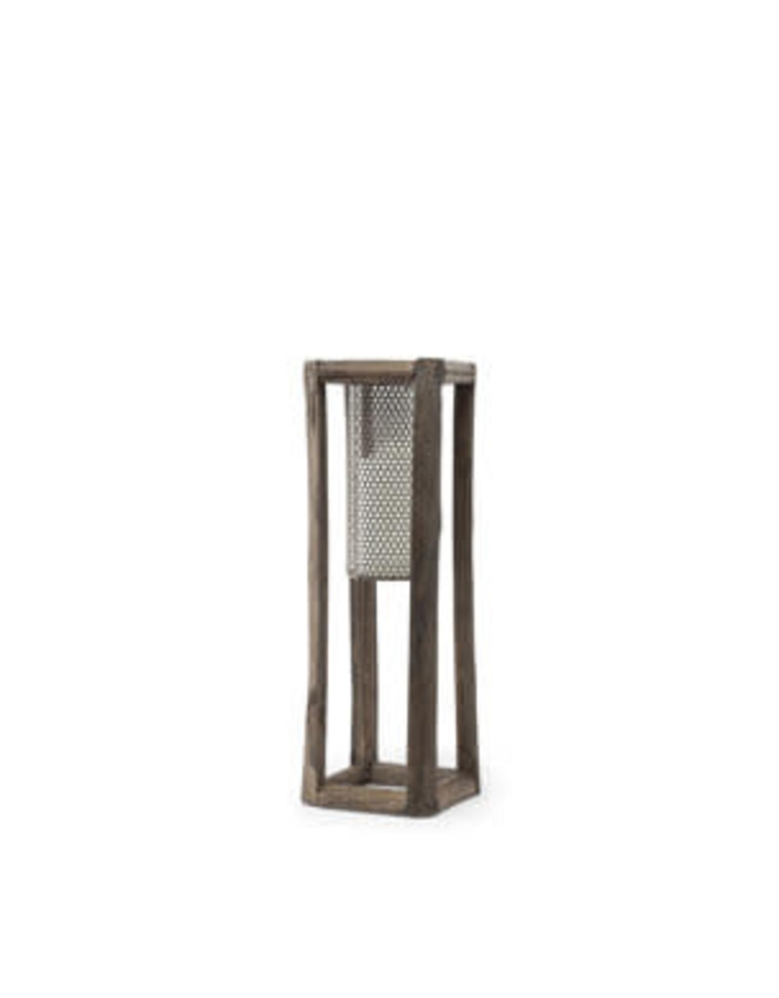 Porte-chandelle en bois et métal brun petit - Rowan II