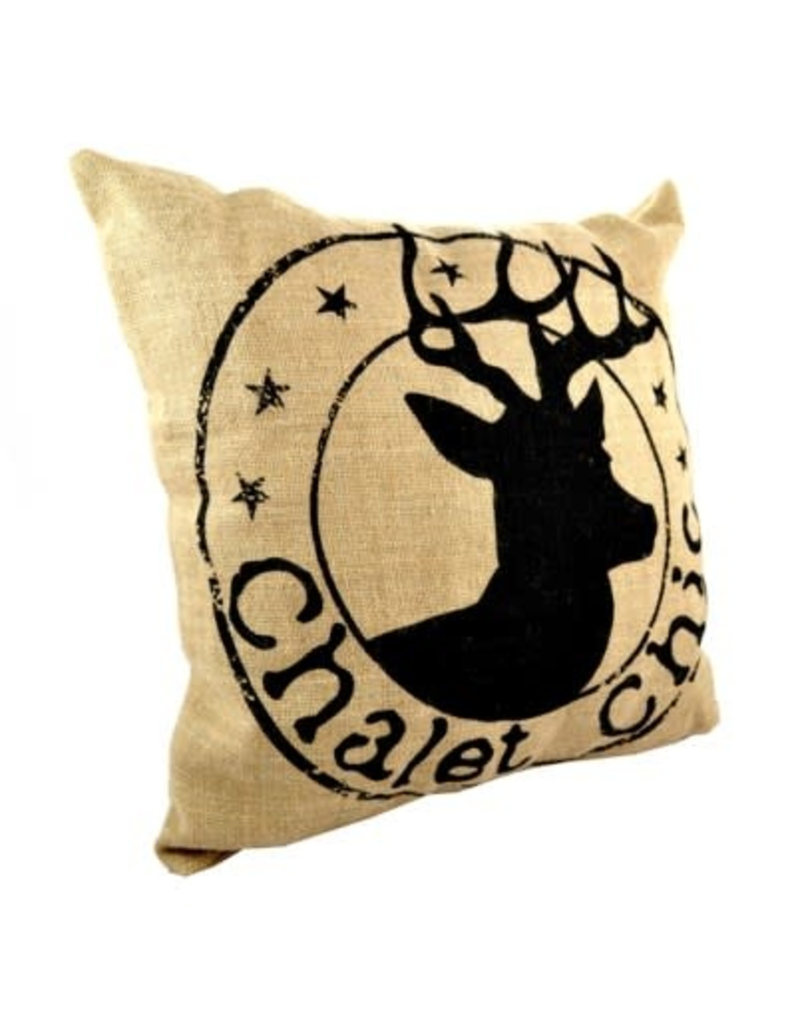 Coussin cerf - chalet chic