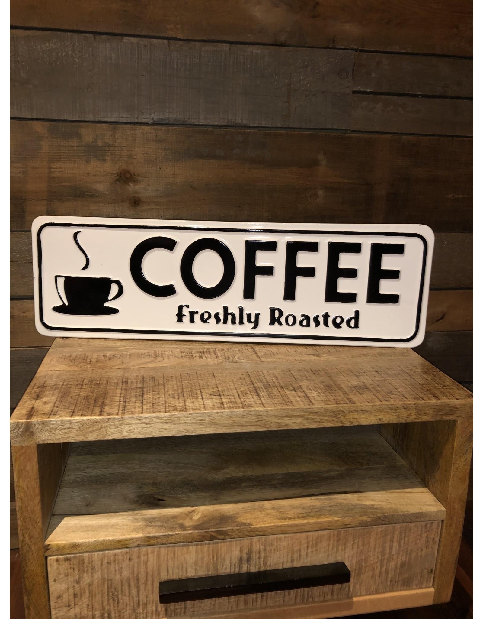 "Affiche  blanche ""Coffee"""