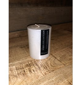 Chandelle blanche rustique 3x3.5
