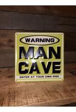 """Affiche """"Man Cave"""" vert en métal"""