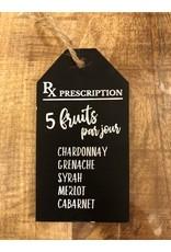 Étiquette à vin - 5 fruits par jour