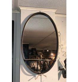 Miroir ovale avec tablette