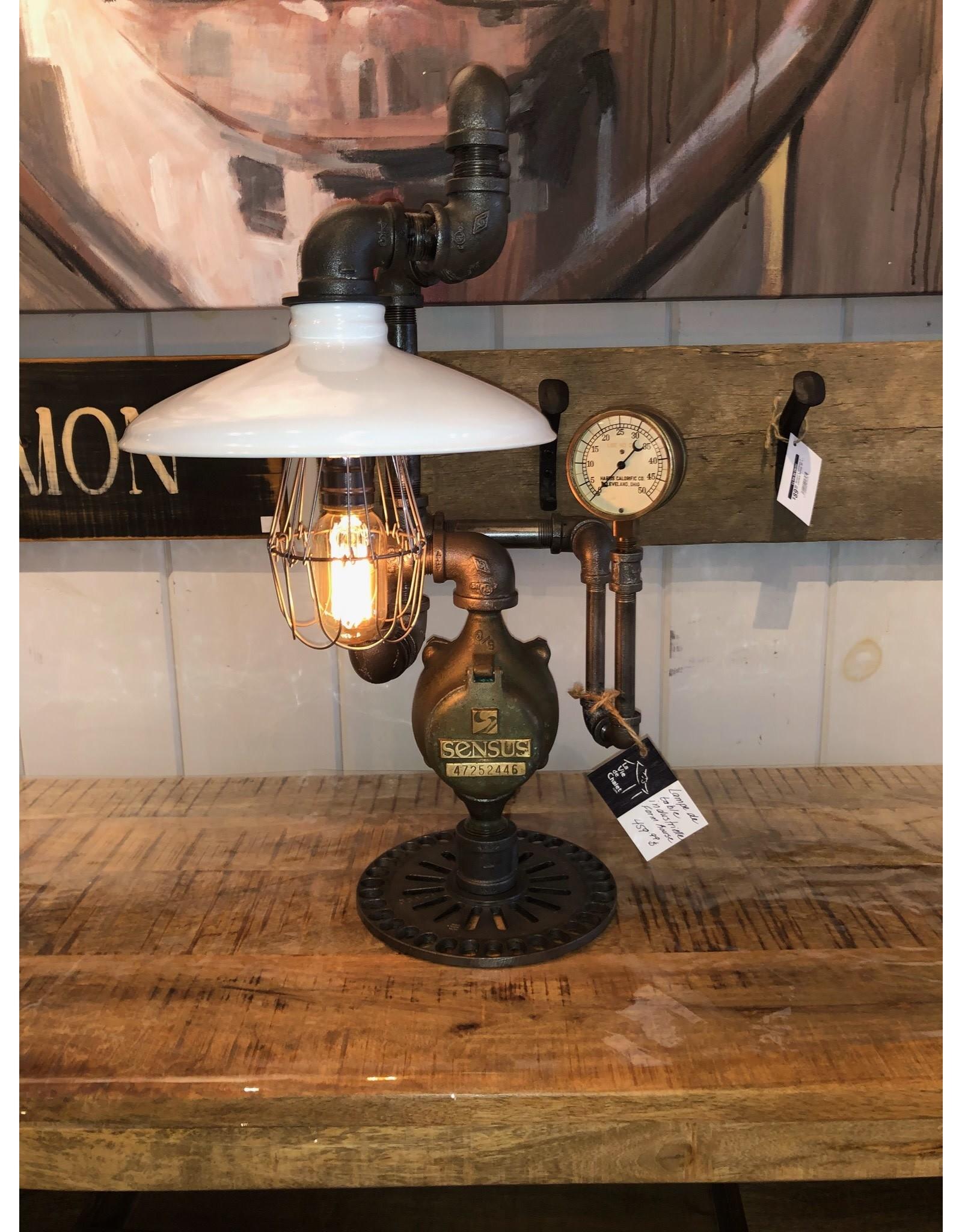 Lampe de table  industrielle blanche Farm House