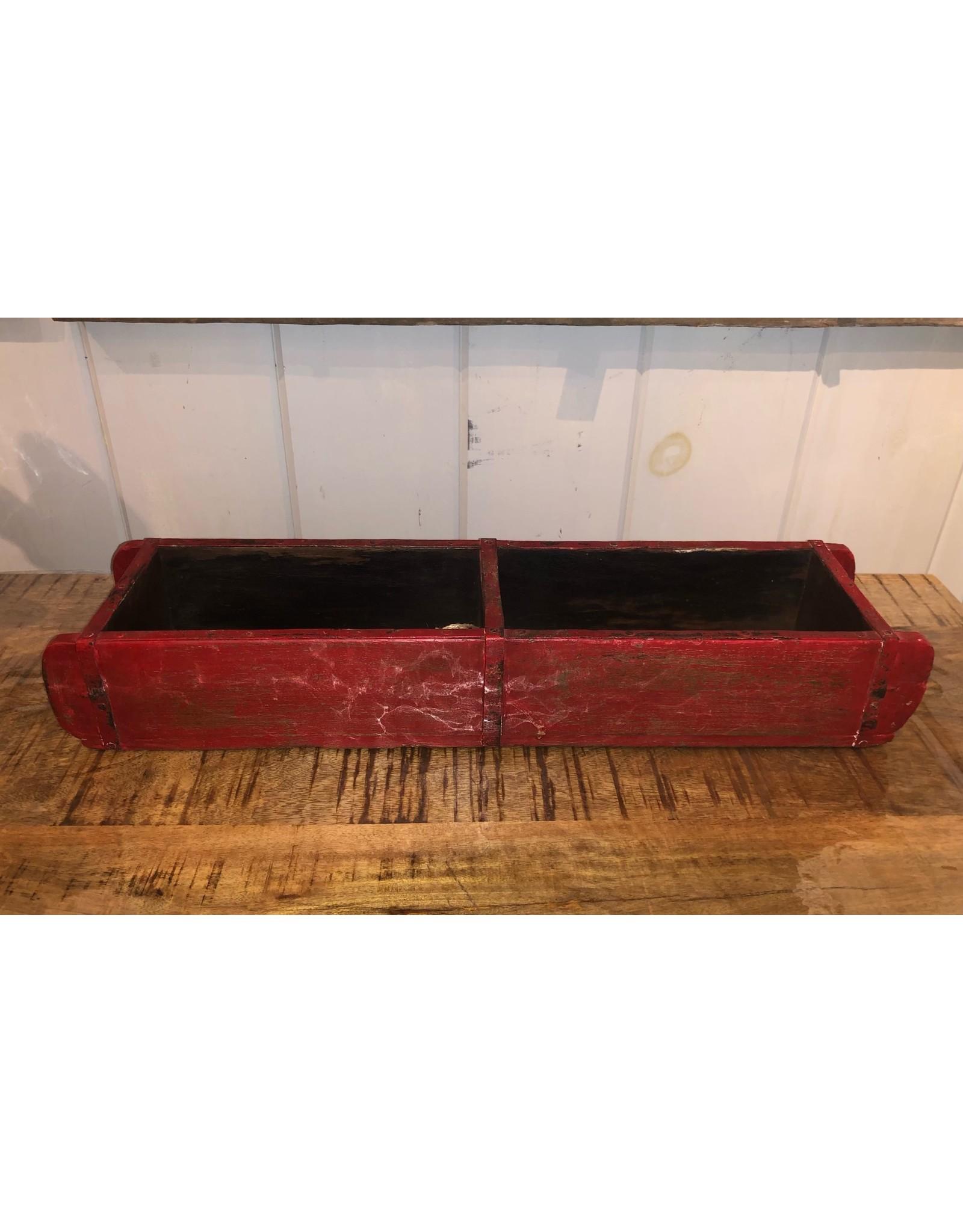 Moule à briques double en bois rouge