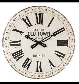 Horloge blanche en métal