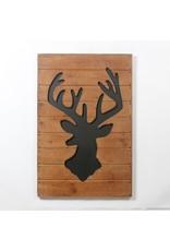 Cadre  Chevreuil sur bois