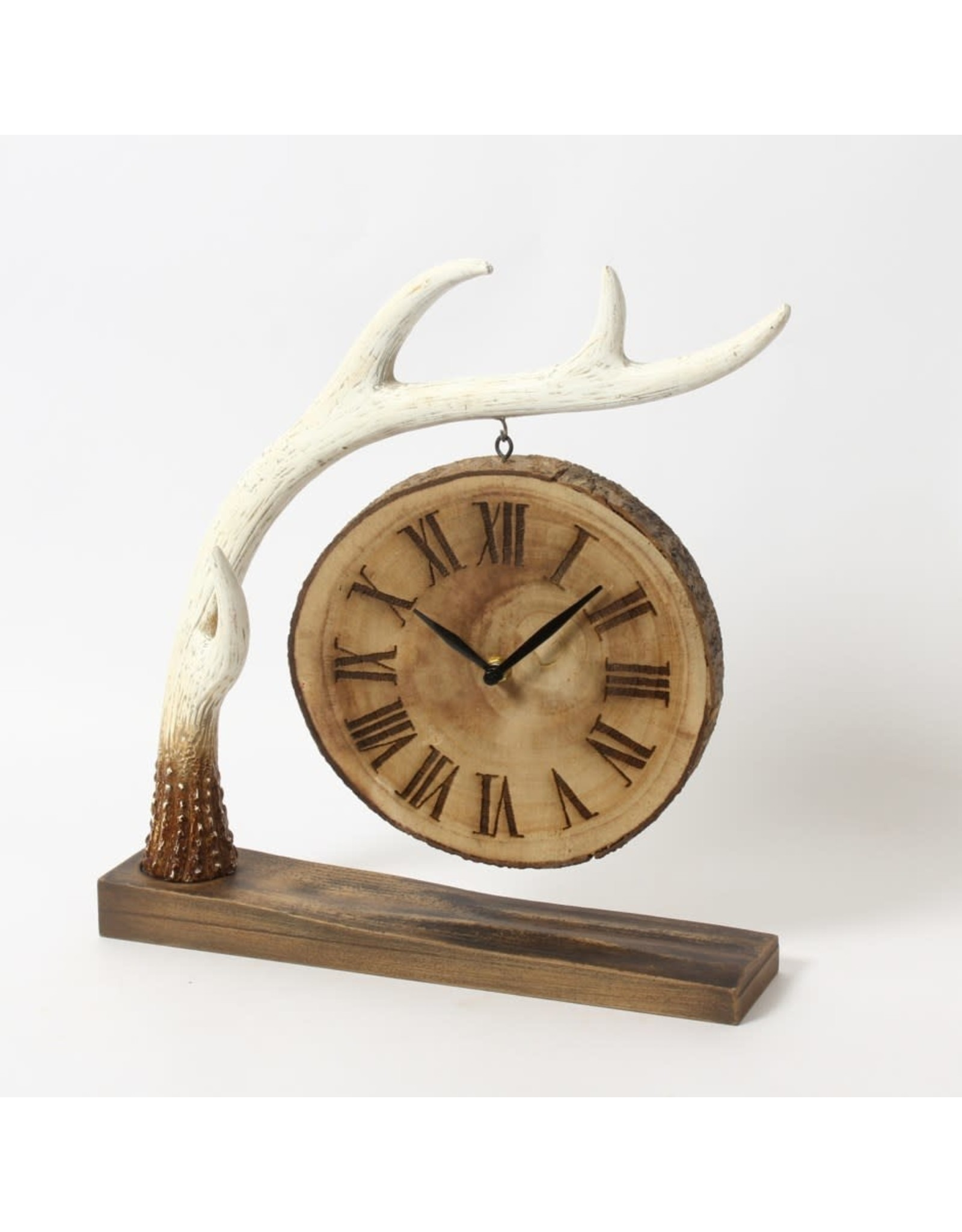 Horloge de table - Panache et bûche