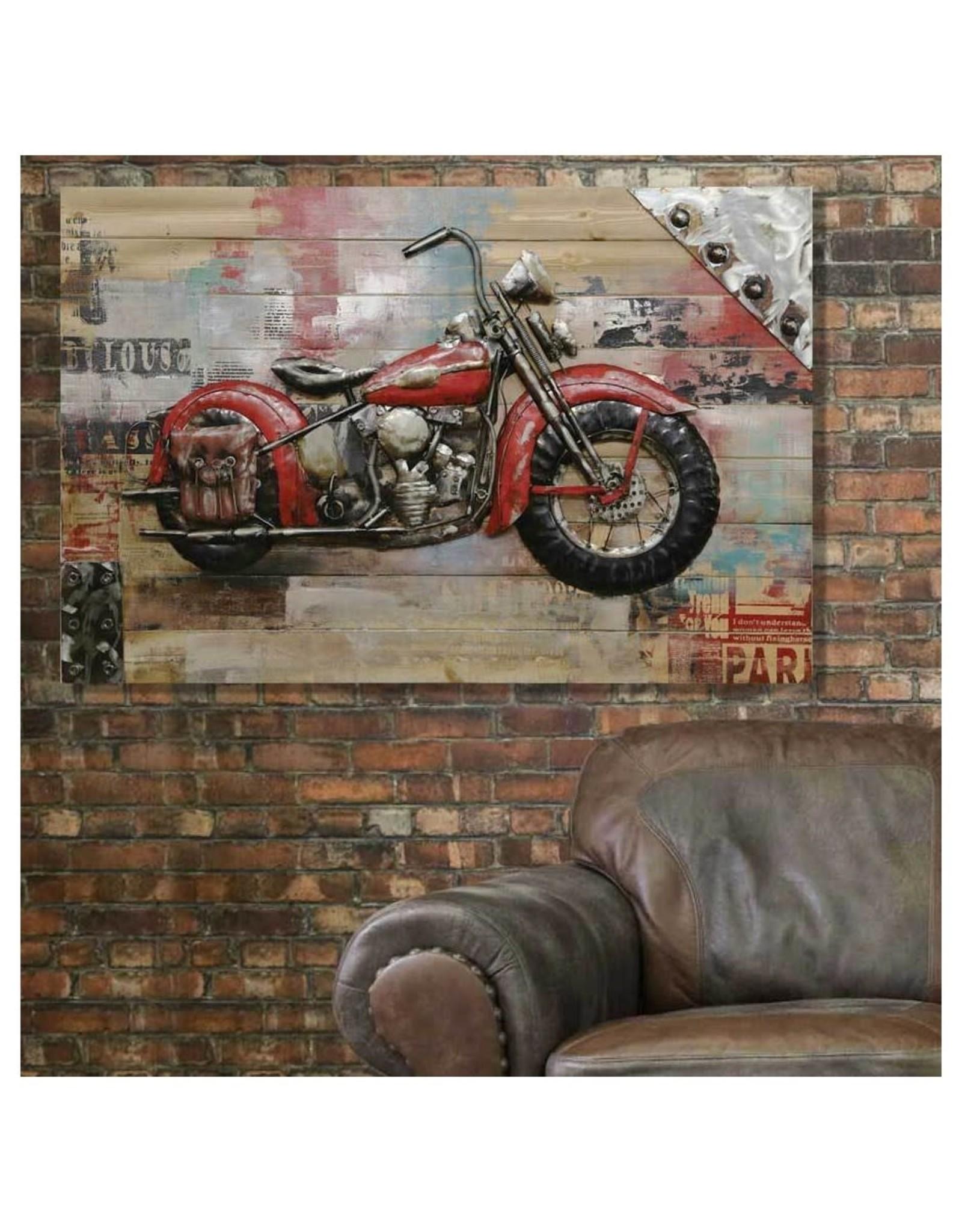 Cadre moto rouge