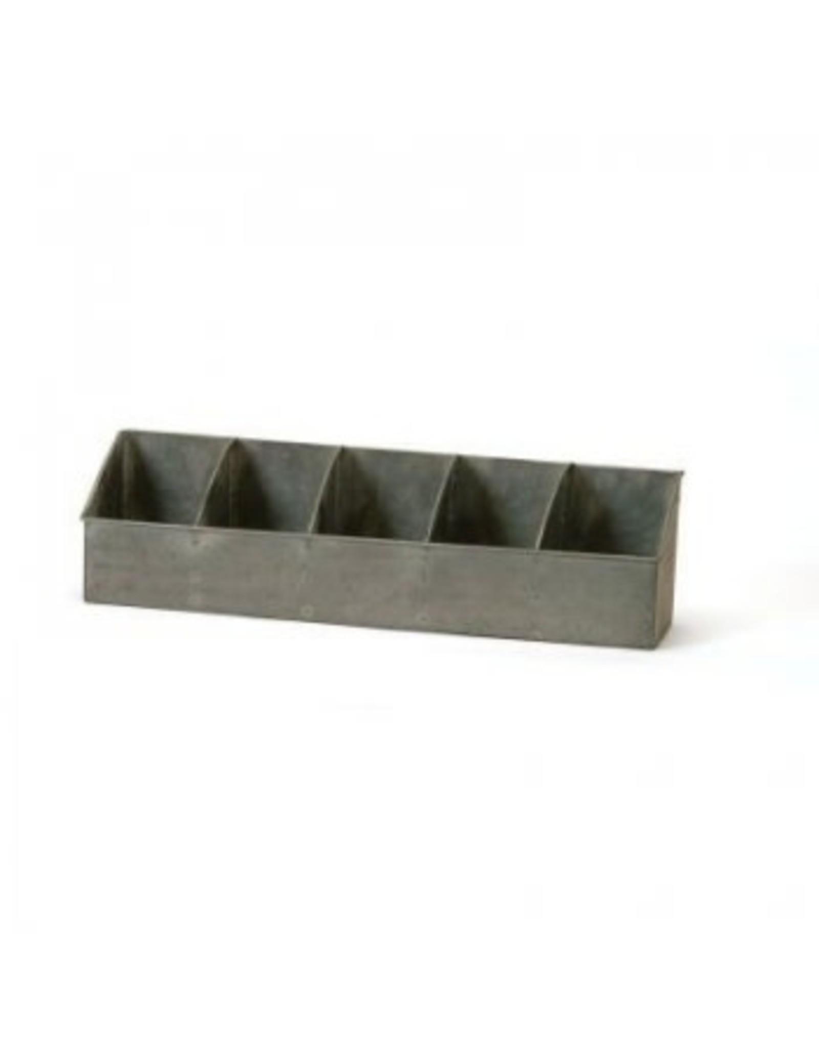 Panier en métal à 5 compartiments