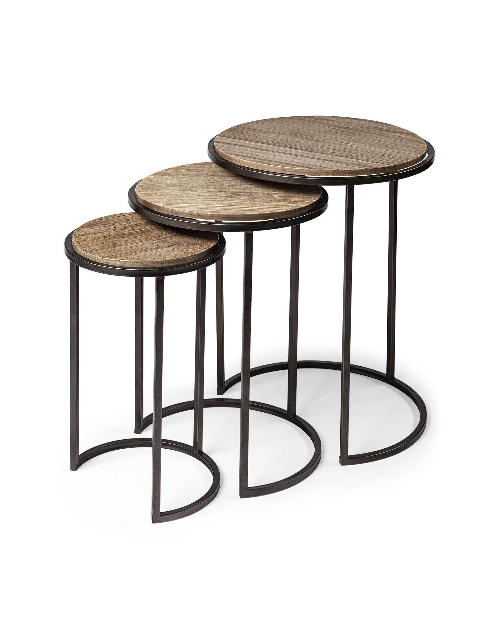 Tables d'appoint brunes