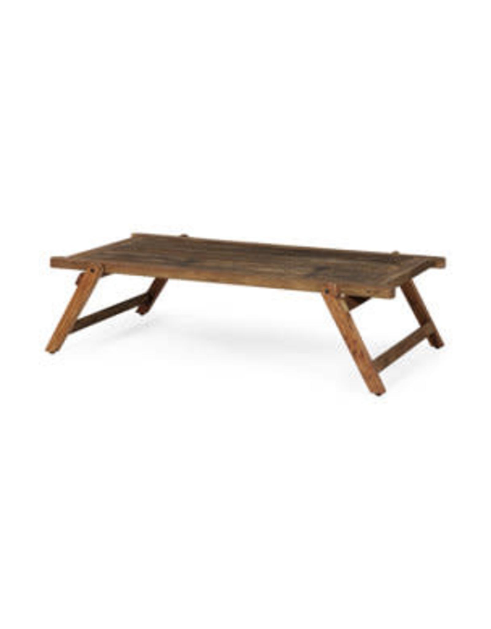 Table à café pliante en bois recyclé