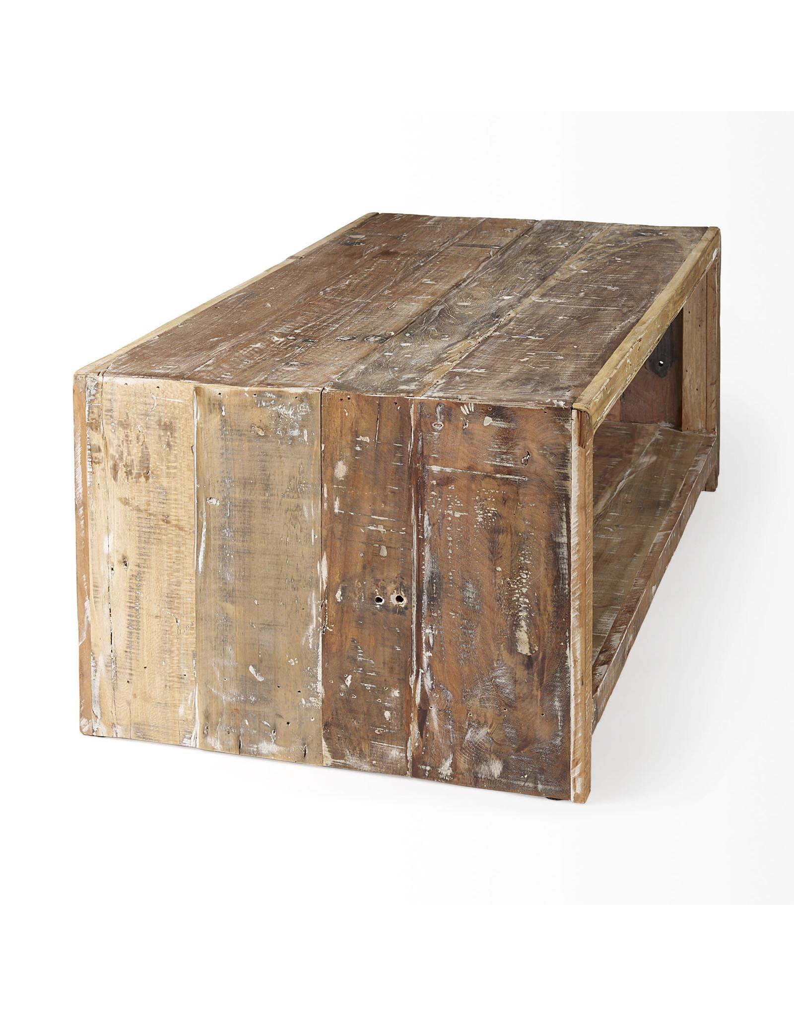 Table basse  en bois recyclé