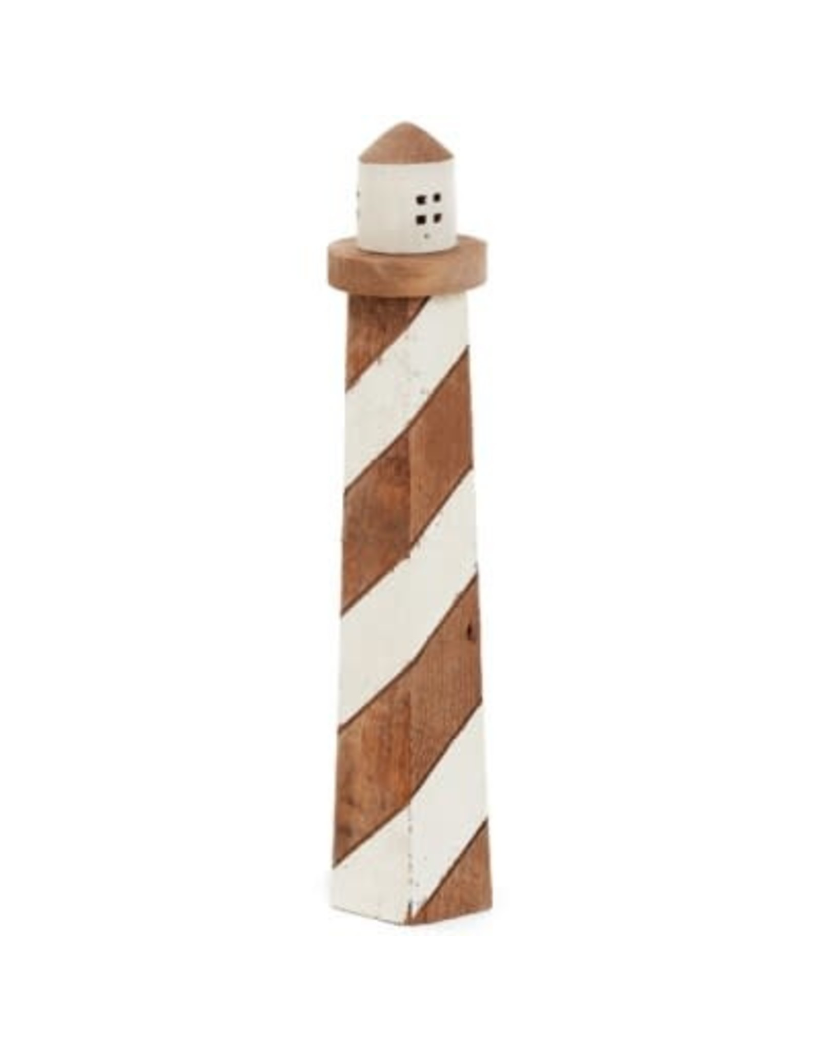 "Phare en bois naturel 5"" x 20"""
