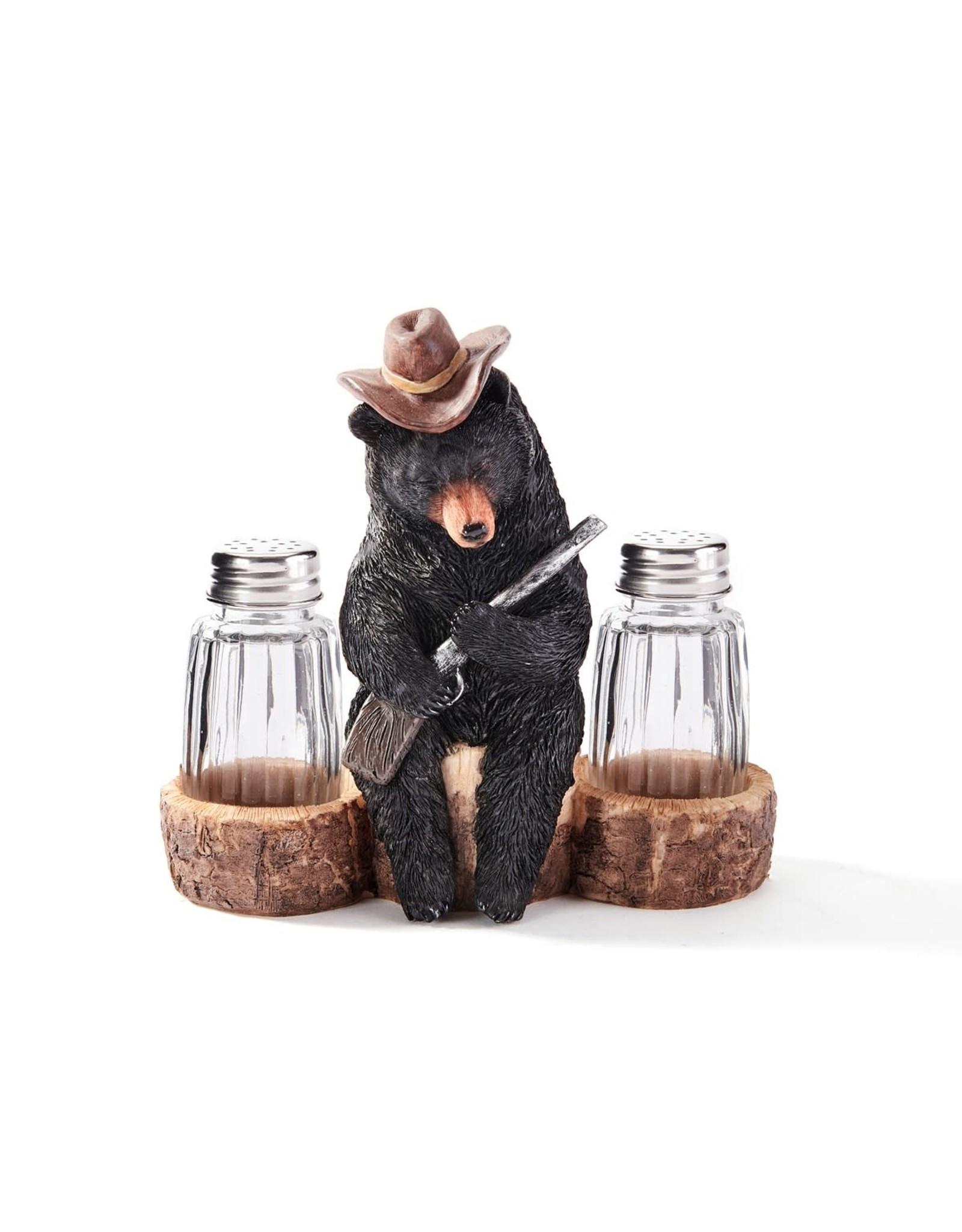 Salière / Poivrière ours Western