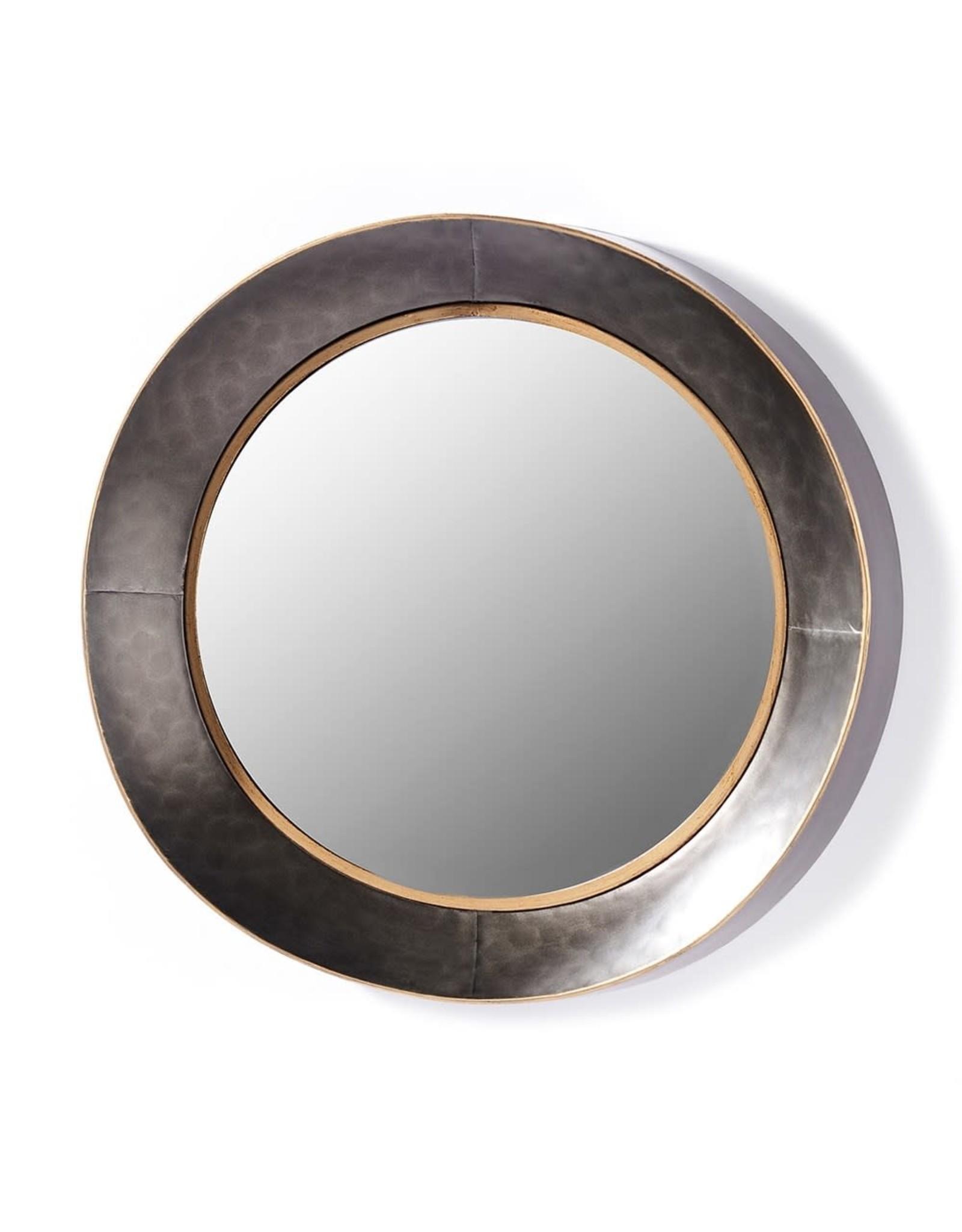 Miroir noir et or