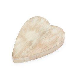 Plateau  de service coeur en bois