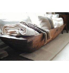 Bol décoratif en bois rustique