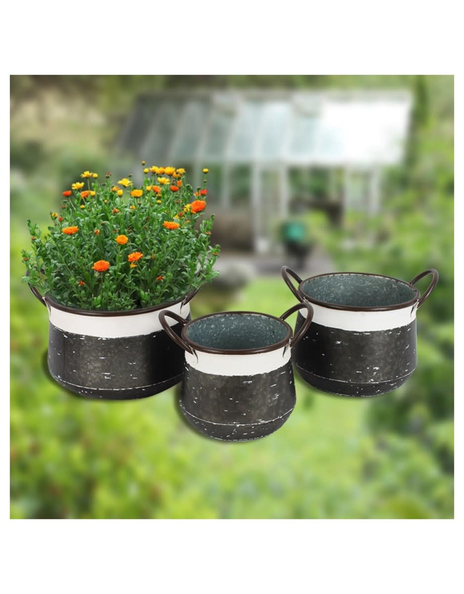 Pot à plante en métal- moyen