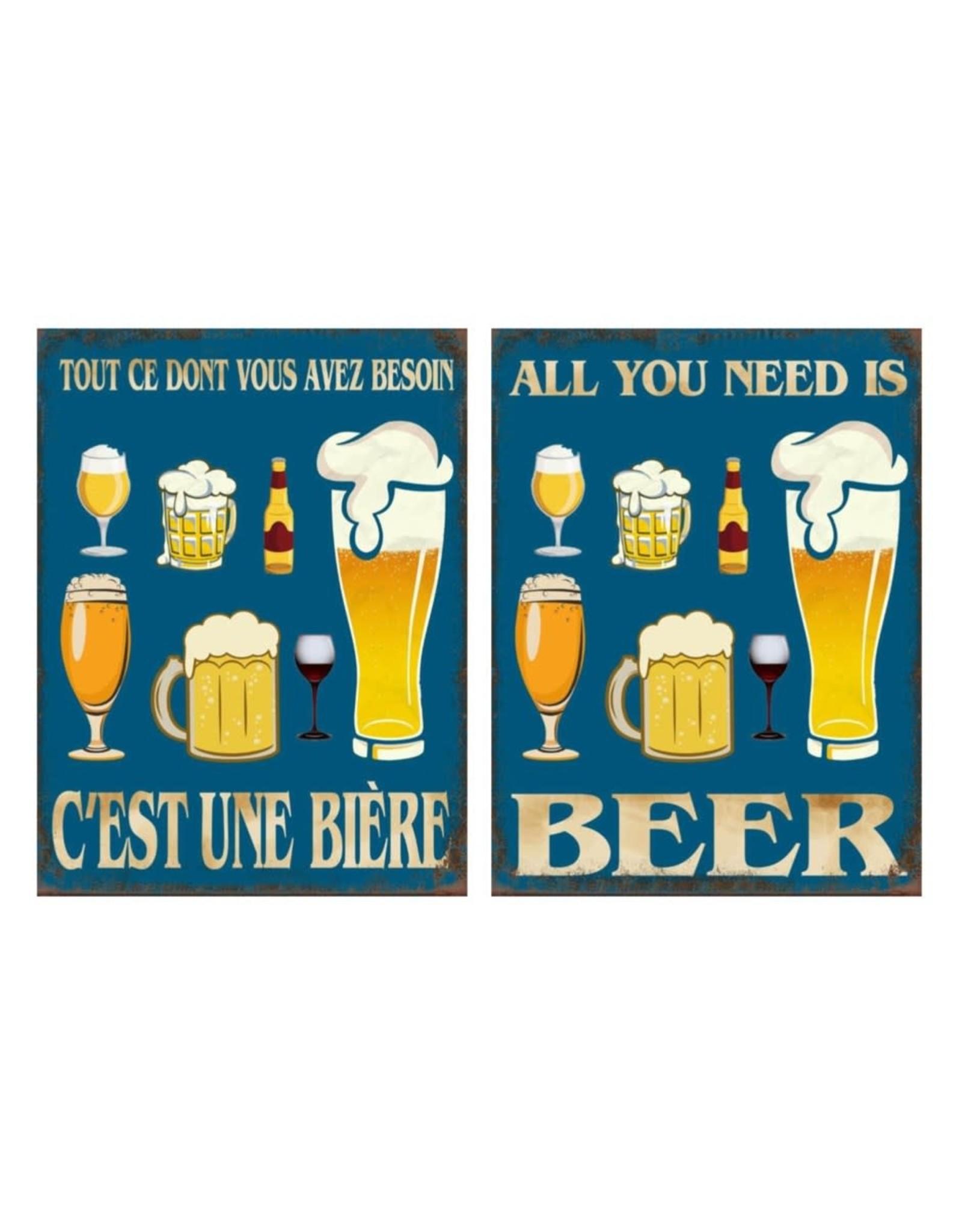 Affiche -  Besoin d'une bière