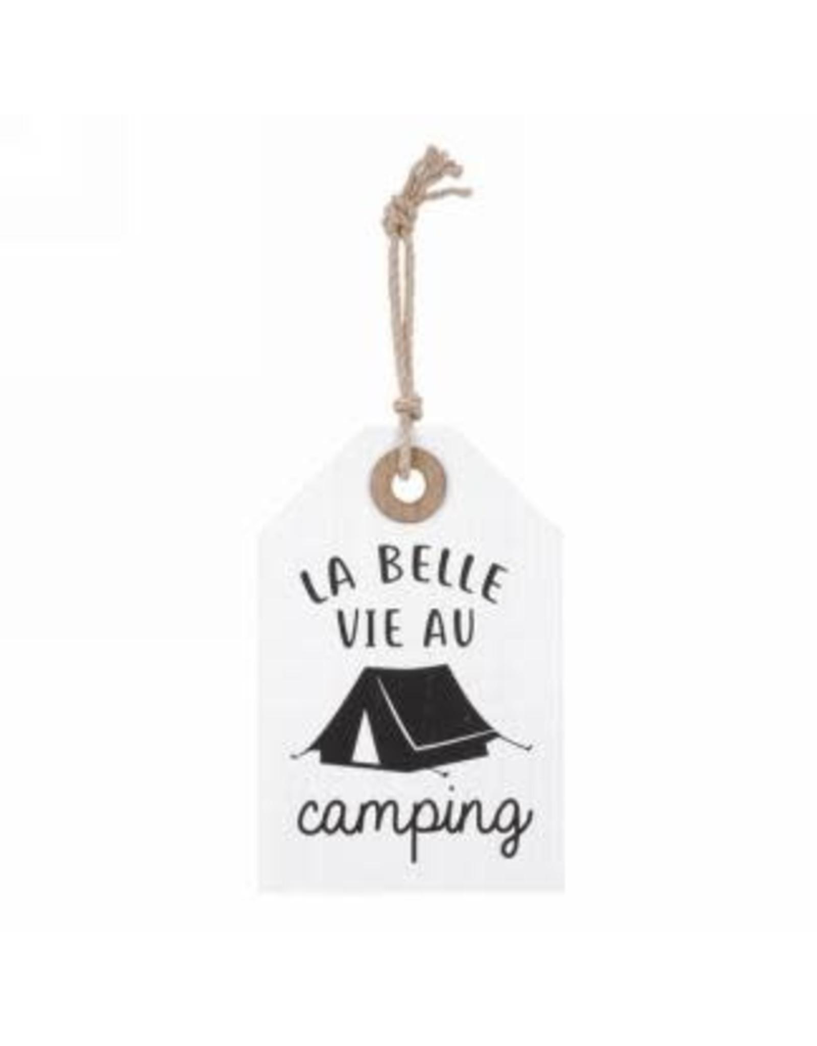 Étiquette en bois - La vie est belle au camping