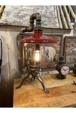 Lampe de table  vintage  rouge