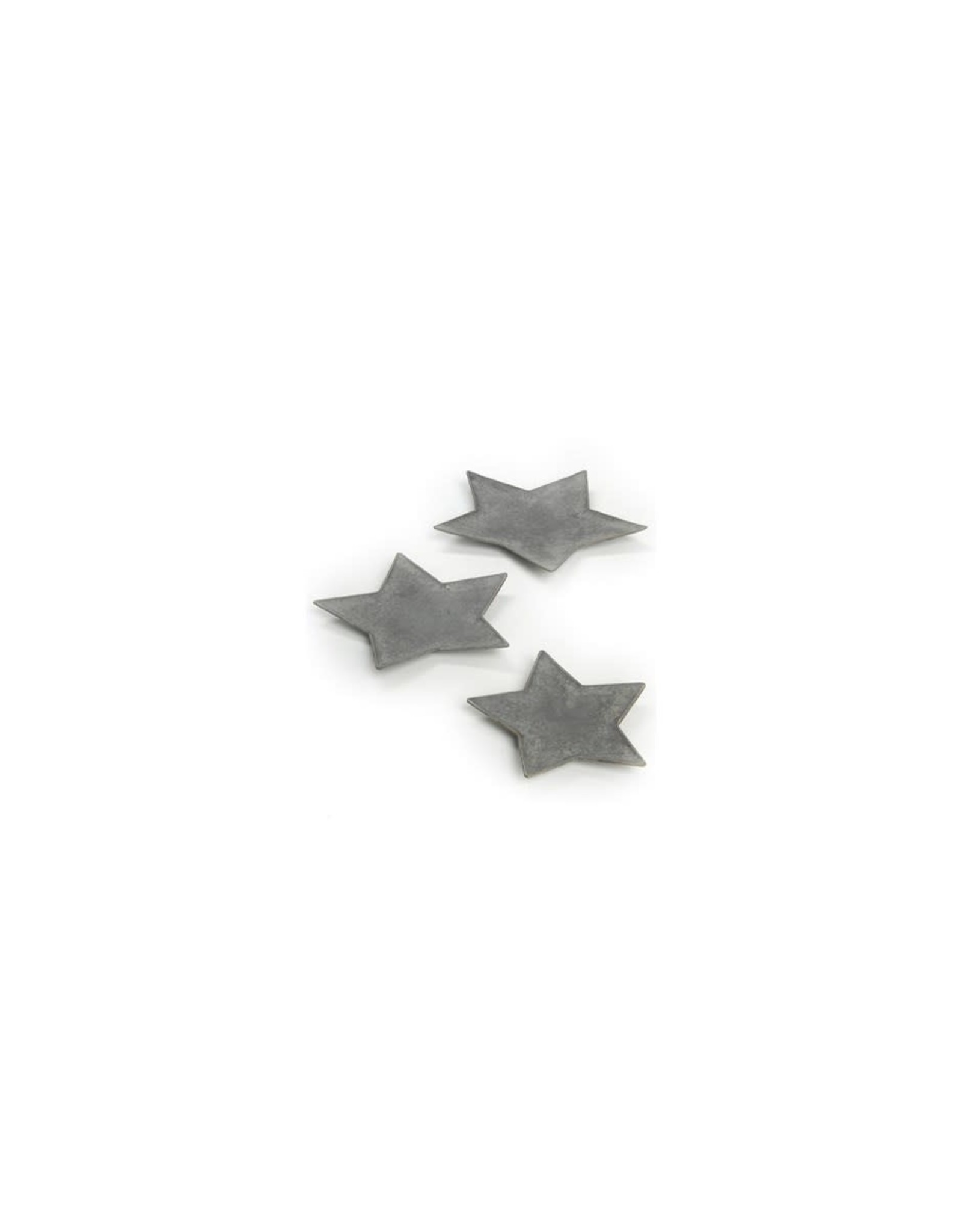 Assiette étoile  grise 8''