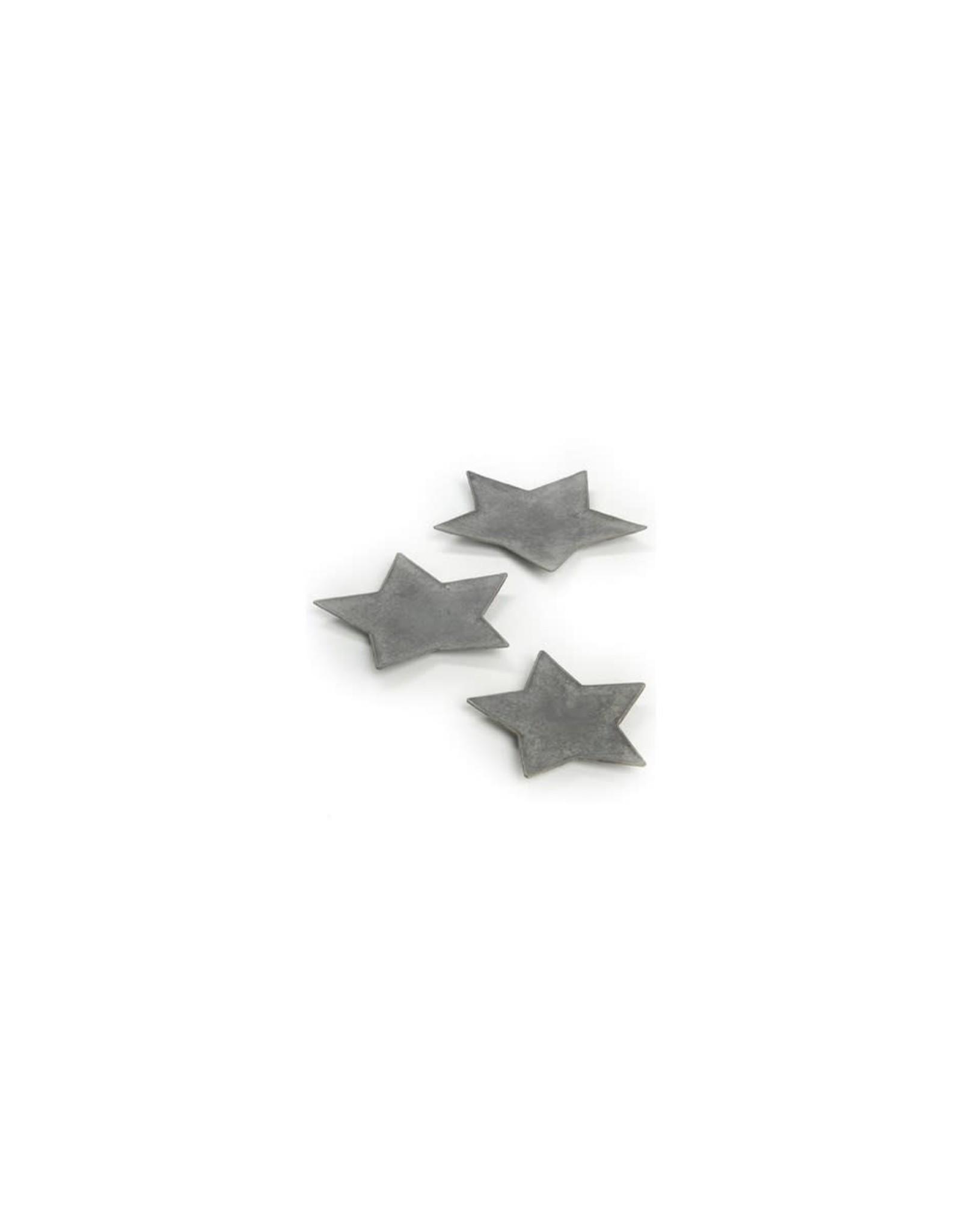 Assiette étoile grise  12''
