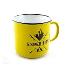 Tasse jaune expédition