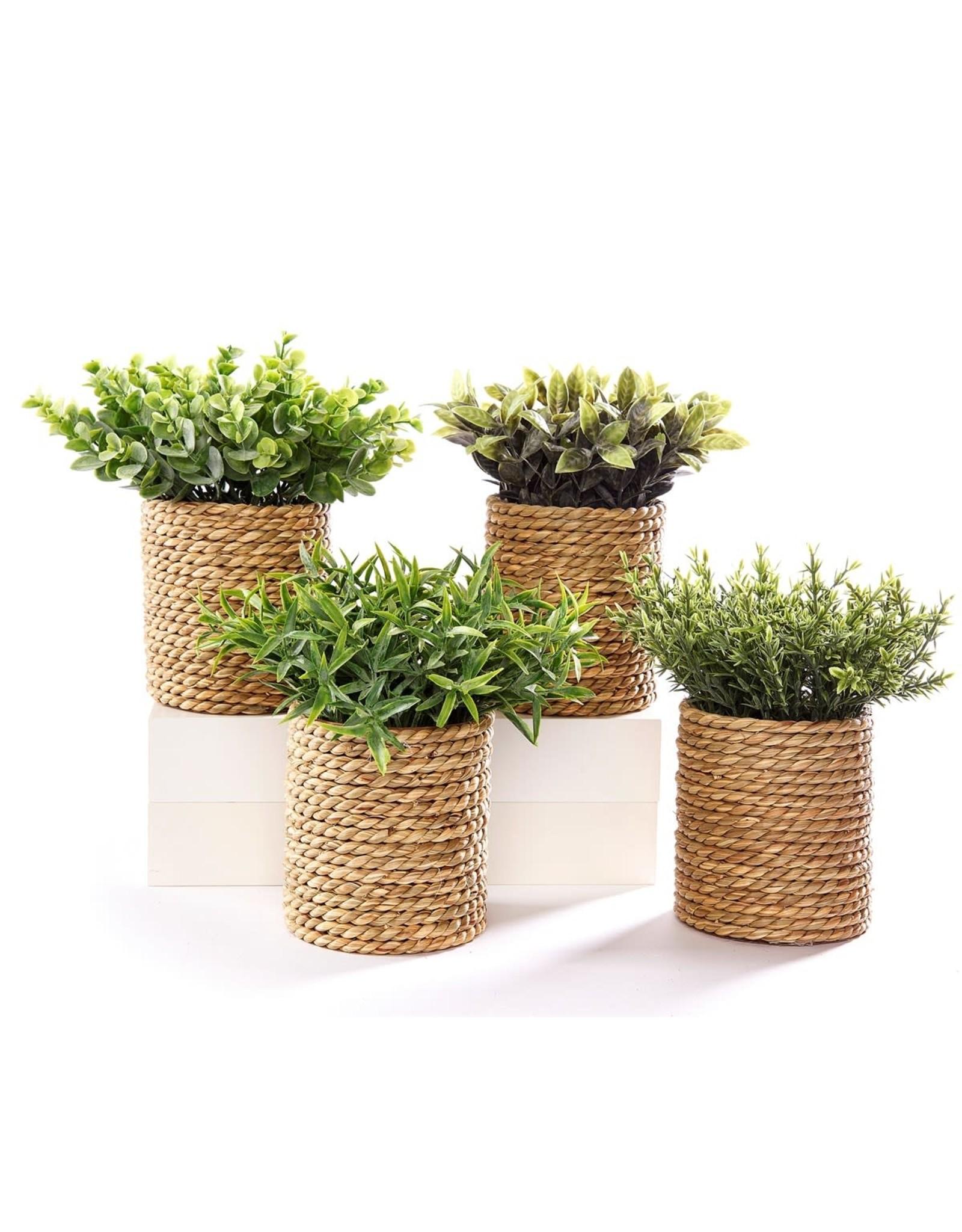 Pot à plantes en corde